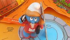 basf Schtroumpfette publicitaire chimiste smurf puffo schtroumpf ruban orange