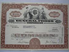 General Foods Cor Stock Share Bond Delaware Usa Wertpapier Aktie Obligation 1977