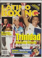 "LATINO BOXING MAGAZINE OSCAR De La HOYA-FELIX ""TITO"" TRINIDAD BOXING HOFers 1999"