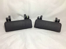 Pair Front, LH & RH, Outside Door Handle Textured Black for 93-00 Ford Ranger
