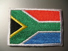 SOUTH AFRICAN Flag Small Iron On / Sew On Patch Badge Africa Suid-Afrika Vlag