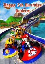 Personalised Super Mario Kart Birthday Card 4 Designs
