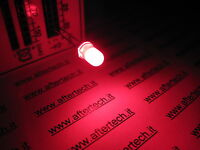 FOGGY 100 DIODI LED LEDS ROSSI 5mm ROSSO LUCE DIFFUSA + RESISTENZE A2B17.A2C48