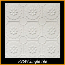 Polystyrene Glue Up Ceiling Tiles 20x20 R36 White Pack of 8