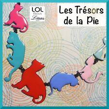Collana LOL GIOIELLI - Famiglia da 7 gatti Miaou - Multicolore - LOLILOTA