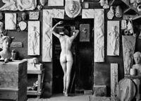 """Photographie,  """"L'atelier du sculpteur"""", 1987     /    13 x 18 cm"""