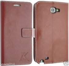 FOR SAMSUNG GALAXY LEATHER CASE COVER FLIP POUCH BACK SKIN NOTE 1 I9220 N7000