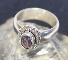 Silberring Handarbeit Amethyst Lila 56 Glitzer Ring Silber Rein Elegant Kordel