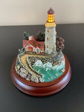 Thomas Kincade Guiding Lights- Conquering The Storms Lighthouse On Stand