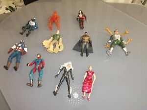Job Lot of Marvel and DC Comic figures Batman and others