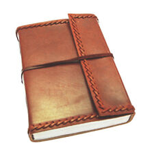Fair Trade Handmade Eco Large Stitched Leather Journal Notebook 2nd Quality