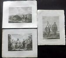 Cooke 1801 Lot of 4 Antique Prints of Russia & area. Copper Plates