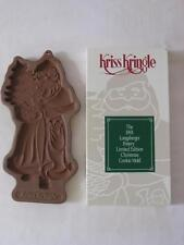 1991 LONGABERGER LTD. KRISS KRINGLE UNUSED COOKIE MOLD AND RECIPE CARD IN BOX