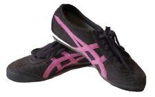 Onitsuka Tiger Womens 8 Gray Pink Felt Running Casual Shoes