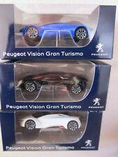 Peugeot Vision Gran Turismo blau/ weiß/ schwarz 3 Stück