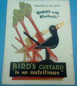 1930 original BIRD'S CUSTARD COLOUR ADVERTISEMENT removed from journal, Lot A