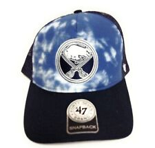 Mens Buffalo Sabres '47 Brand NHL Hockey Navy Blue Snapback Trucker Hat Cap