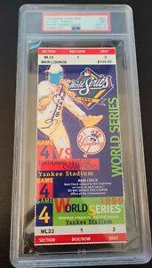 Mariano Rivera Signed Yankees 1999 World Series Game 4 FULL Ticket AUTO PSA/DNA