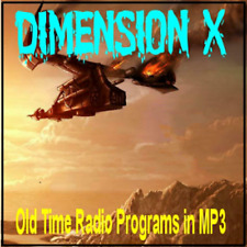 Dimension-X Old Time Radio Shows - 50 MP3s on DVD + Buy 3 Get 1 FREE