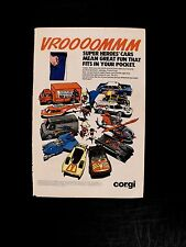 1979 Corgi Diecast Cars~Batman~Batmoblie~Superman DC Promo Toy Memorabilia AD