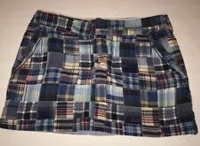 American Eagle Womens Mini Skirt Blue Size 2 Patchwork Cotton Madras Plaid