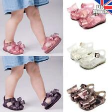 KIDS BABY GIRLS TODDLERS JELLY SHOES SUMMER HOLIDAY BEACH BOWKNOT FLAT SANDALS