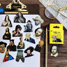 45Pcs/Pack Famous Artist Mini Sticker Diy Scrapbooking Sticker Stationery Dec I2