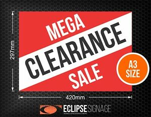 Mega Clearance Sale Promotional Poster A3