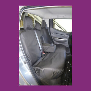 Mitsubishi L200 2015+ Black Waterproof Tailored Rear Bench Seat Covers