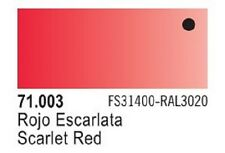 Vallejo Scarlet Red Model Air Color 17ml Bottle Paint 71.003 VLJ71003