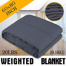 Weighted Blanket for Adults Sensory Blanket 60x80'' 20lb Queen Size U.S. Solid