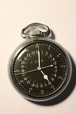 1943 WWII Military Navigational Hamilton Pocket Watch  AN 5740