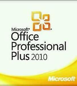 Microsoft Office 2010 Professional Plus MS Office Brand New  - 1 PC Install