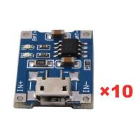 10Pcs 5V Mini USB 1A TP4056 Lithium Battery Charging Board Power Charger Mo ZH2A