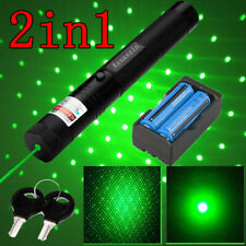 1mw 900Miles Green Laser Pointer 532nm Visible Beam 2in1 Star Cap Presentation