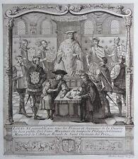 Gravure Etching Louis XI assemblé avec tous les Princes & Seigneurs de la Guerre