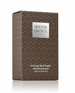 Molton Brown Re-charge Black Pepper Bodyscrub Bar - NIB FRESH AUTHENTIC
