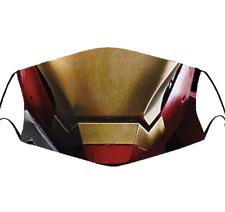 Iron Man Face Mask - Tony Stark - Reusable - Unisex Cotton Face Mask Adult Size