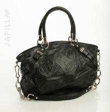 Coach Madison Sophia black embellished Leather Satchel 16356 purse