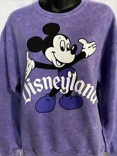 Disney Parks Disneyland Purple Vintage Mickey Mouse Pullover Sweatshirt~Medium