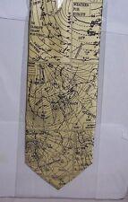 Weather maps of UK on cream Tie