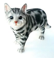 New Realistic American Shorthair Cat Standing Up Home Decor Figurine Free Ship