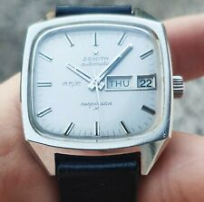 Vintage men's Zenith Respirator AF/P high beat 36000 automatic watch cal.405