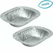 More details for individual foil pie dishes, rectangle, cases, disposable tins, oblong containers