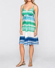 Damen Kleid in Webqualität, Spaghettiträgern, Gr.44,batik dunkelblau, NEU