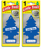2 X Magic Tree Little Trees Car Air Freshener - New Car Scent