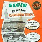 1956 ELGIN Aluminum Boat Large Original Advertisement Poster SEARS ROEBUCK & Co.