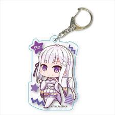 Re:Zero Emilia Acrylic Key Chain Anime Manga NEW
