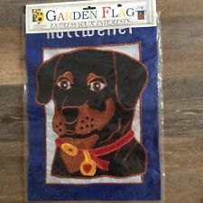 Rottweiler Dog Breed Garden Flag 13x17 New 1999