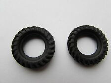 2 NEW TREADED 33MM BLACK REAR TRACTOR TYRE FOR DINKY/CORGI  REPLACEMENT TYRES
